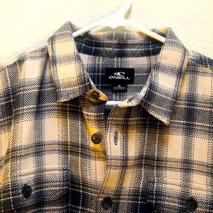 New with tags O'Neill brand button up plaid shirt